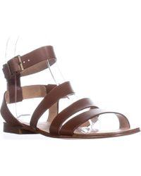 Splendid - Caracas Buckle Ankle Strap Sandals, Cognac - Lyst