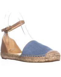 Ivanka Trump - Vaile4 Espadrille Ankle Strap Flats, Light Blue - Lyst