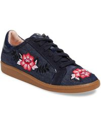 Kate Spade - Everhart Leather Low Top Sneaker - Lyst