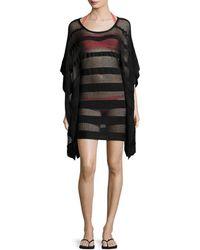 Hervé Léger - Solid Mesh Cover-up Dress - Lyst