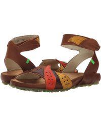 El Naturalista - Womens Ikebana N132 Leather Open Toe Casual Slingback Sandals - Lyst