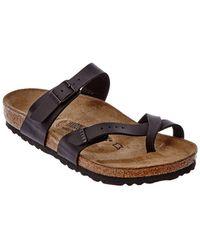 Birkenstock - Mayari Black Leather Sandal - Lyst