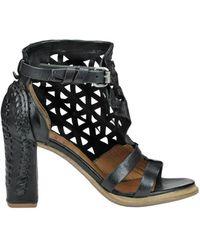 A.s.98 - Women's Black Leather Heels - Lyst