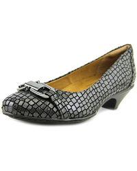 Softspots - Sahara Women Round Toe Synthetic Grey Heels - Lyst