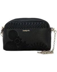 Desigual - Women's Black Faux Leather Shoulder Bag - Lyst