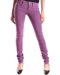 Pinko - Women's Purple Cotton Jeans - Lyst