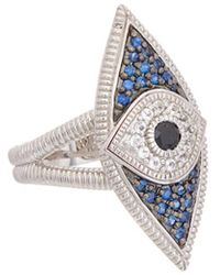 Judith Ripka - Silver 0.58 Ct. Tw. Gemstone Evil Eye Ring - Lyst