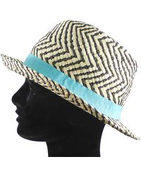 La Fiorentina - Straw Hat With Contrasting Ribbon All Around - Lyst