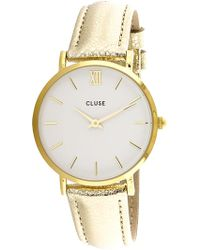 Lyst - Cluse Women s Minuit Mesh Cl30024 Gold silver Stainless-steel ... 3d01c70d214
