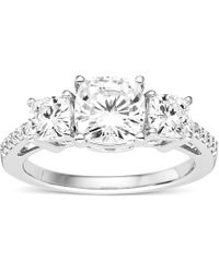 Charles & Colvard - Forever Classic Cushion 7.0mm Moissanite Engagement Ring, 2.80cttw Dew - Lyst