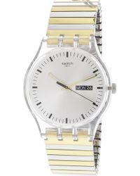 Swatch - Distinguo Suok708a Gold Stainless-steel Quartz Fashion Watch - Lyst