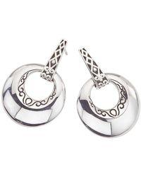 Jewelista - Oxidized Sterling Silver Earrings - Lyst