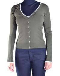 Who*s Who - Women's Green Cotton Cardigan - Lyst