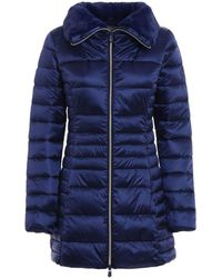 Save The Duck - Women's D4366wiris500009 Blue Polyamide Coat - Lyst