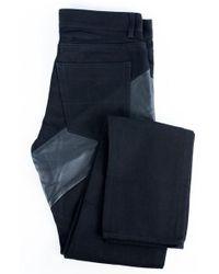 Givenchy - Men's Black 100% Cotton & Leather Jeans - Lyst