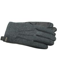 Ike Behar - Herringbone Leather Touchscreen Gloves - Lyst