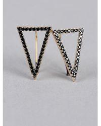 Armitage Avenue - Black Triangle Earrings - Lyst