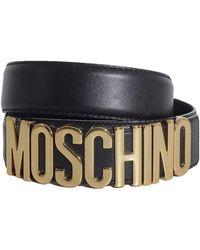 Moschino - Women's Black Leather Belt - Lyst