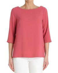 Ottod'Ame - Women's Red Polyester T-shirt - Lyst