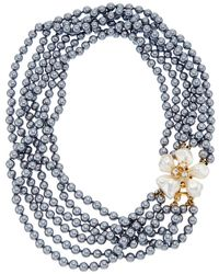 Kenneth Jay Lane - Gold-electroplated Glass Pearl Necklace - Lyst