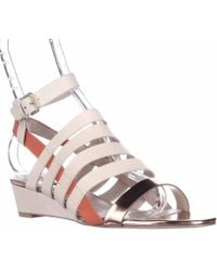 French Connection - Winona Strappy Wedge Sandals, Barley Sugar/rose - Lyst