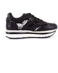 Voile Blanche - Women's Black Leather Sneakers - Lyst