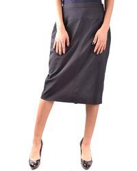 Les Copains | Women's Black Cotton Skirt | Lyst