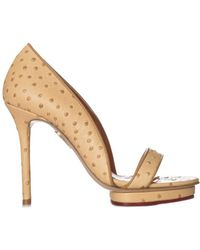 Charlotte Olympia - Women's S1612361003 Beige Leather Sandals - Lyst