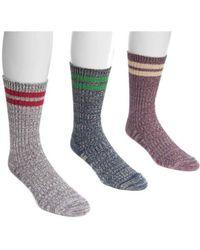 Muk Luks - Men's Striped Socks - Lyst