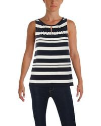 Tommy Hilfiger - Womens Striped Woven Shell - Lyst