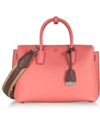 MCM - Women's Red Leather Tote - Lyst