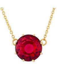 Les Nereides - La Diamantine Grenadine Round Stone Necklace - Lyst