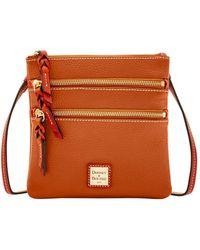 Dooney & Bourke - Pebble Triple Zip Crossbody Shoulder Bag - Lyst