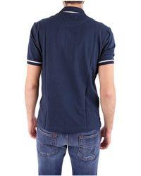 La Martina - Men's Blue Cotton Polo Shirt - Lyst