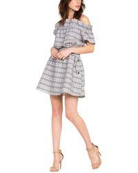 Dance & Marvel - Cold-shoulder Linen-blend Dress - Lyst