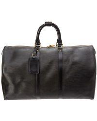Louis Vuitton - Noir Epi Leather Keepall 45 - Lyst