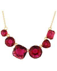 Les Nereides - La Diamantine 6 Grenadine Stones Necklace - Lyst