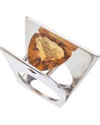 Jewelista - Citrine & Sterling Silver Ring - Lyst