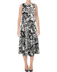 Lauren by Ralph Lauren - Womens Kate Printed Sleeveless Casual Dress - Lyst