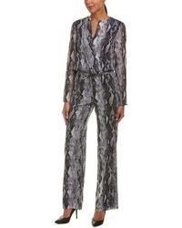 St. John - Silk-blend Jumpsuit - Lyst