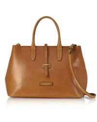 The Bridge - Large Leather Tote Bag W/shoulder Strap - Lyst