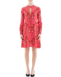 Valentino - Women's Red Silk Dress - Lyst