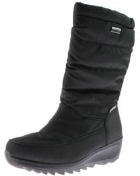 Kamik - Womens Detroit Quilted Wedge Snow Boots - Lyst