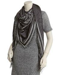 Givenchy - Bambi Negative Printed Wool & Silk-blend Twill Scarf - Lyst