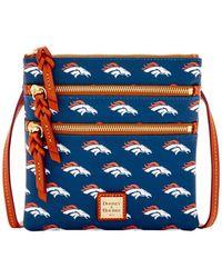 Dooney & Bourke - Nfl Denver Broncos Triple Zip Crossbody Bag - Lyst