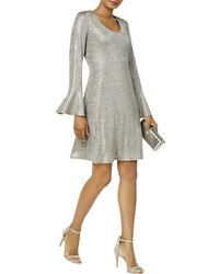 Connected Apparel - Womens Metallic Shift Cocktail Dress - Lyst