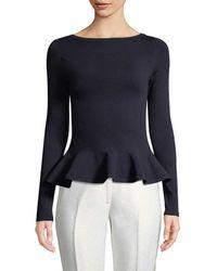 Alaïa - Wool-blend Peplum Top - Lyst