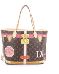 04a13a19fc6e Louis Vuitton - Pre Owned Neverfull Nm Tote Limited Edition Summer Trunks Monogram  Canvas Mm -