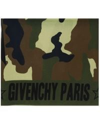 Givenchy - 1212gv Sd251 1 Army Green Printed Scarf - Lyst