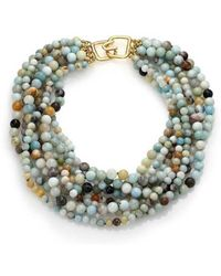 Kenneth Jay Lane - Women's Yellow Gold/amazonite Necklace - Lyst